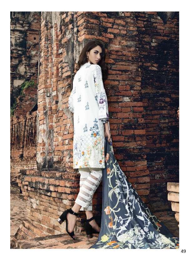Al Zohaib Printed Lawn Unstitched 3 Piece Suit AZ17S 8B