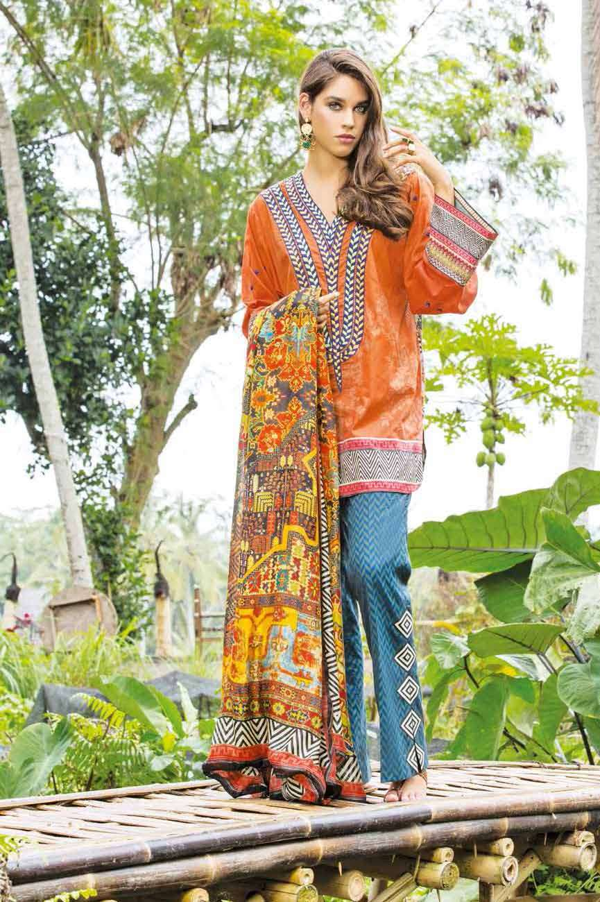 Mahgul by Al Zohaib Embroidered Lawn Unstitched 3 Piece Suit AZM17L 02