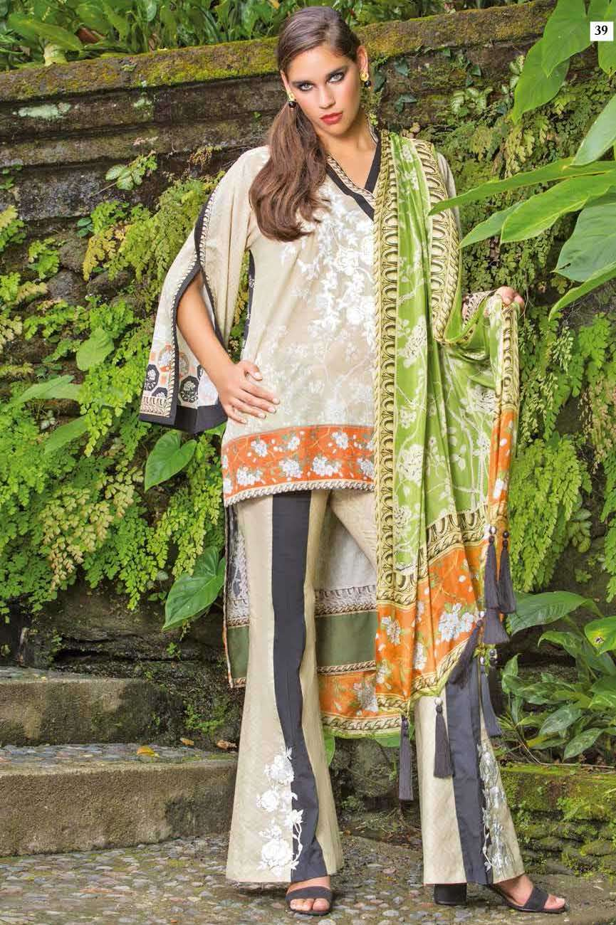 Mahgul by Al Zohaib Embroidered Lawn Unstitched 3 Piece Suit AZM17L 06