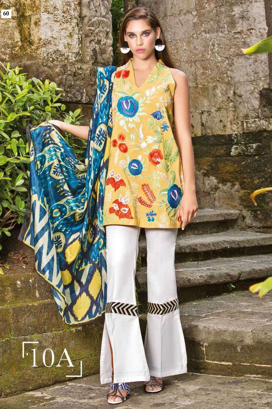 Mahgul by Al Zohaib Embroidered Lawn Unstitched 3 Piece Suit AZM17L 10A