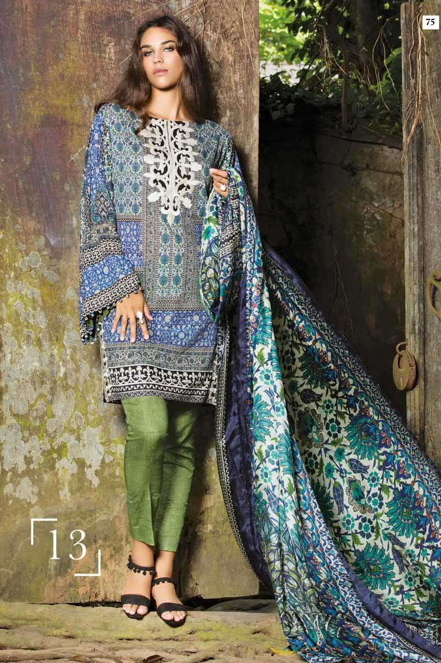 Mahgul by Al Zohaib Embroidered Lawn Unstitched 3 Piece Suit AZM17L 13