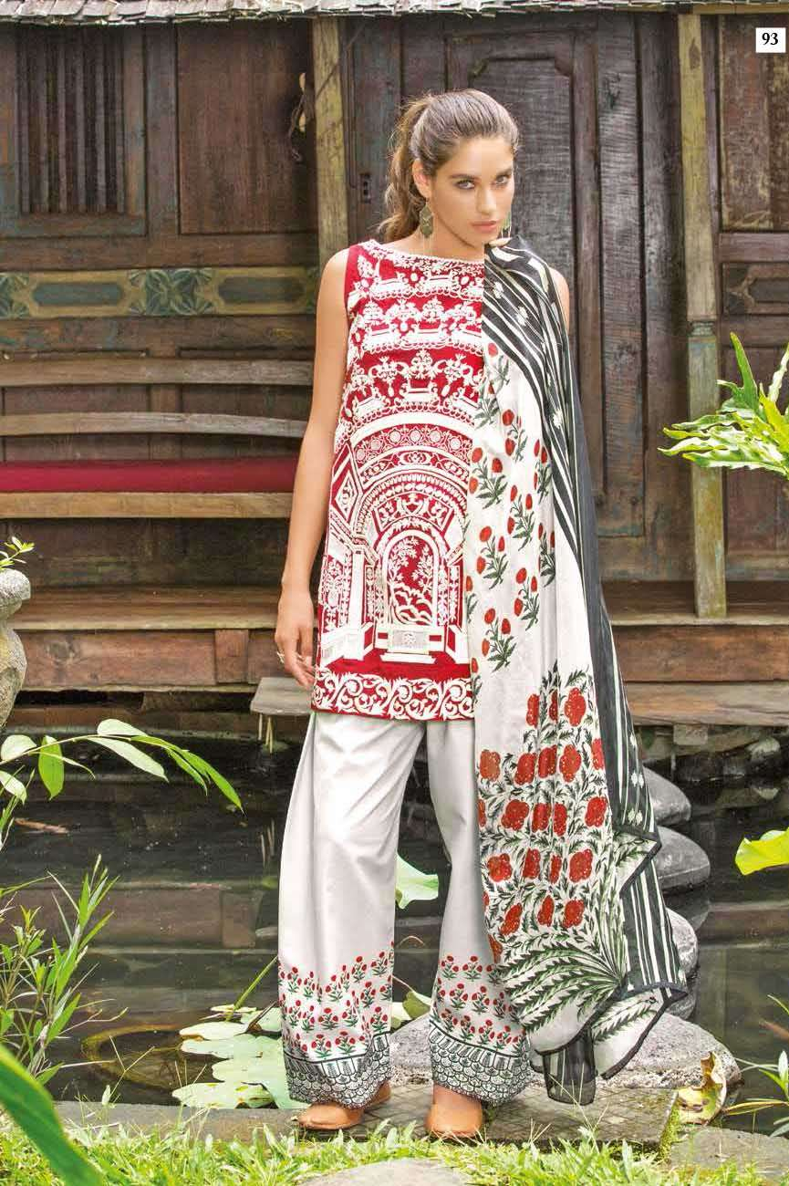 Mahgul by Al Zohaib Embroidered Lawn Unstitched 3 Piece Suit AZM17L 17