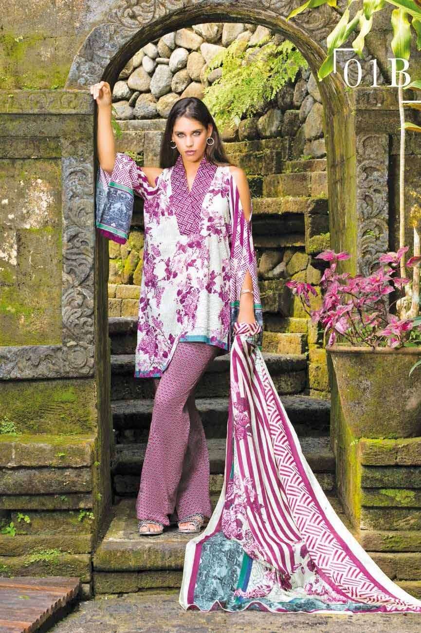 Mahgul by Al Zohaib Embroidered Lawn Unstitched 3 Piece Suit AZM17L 1B