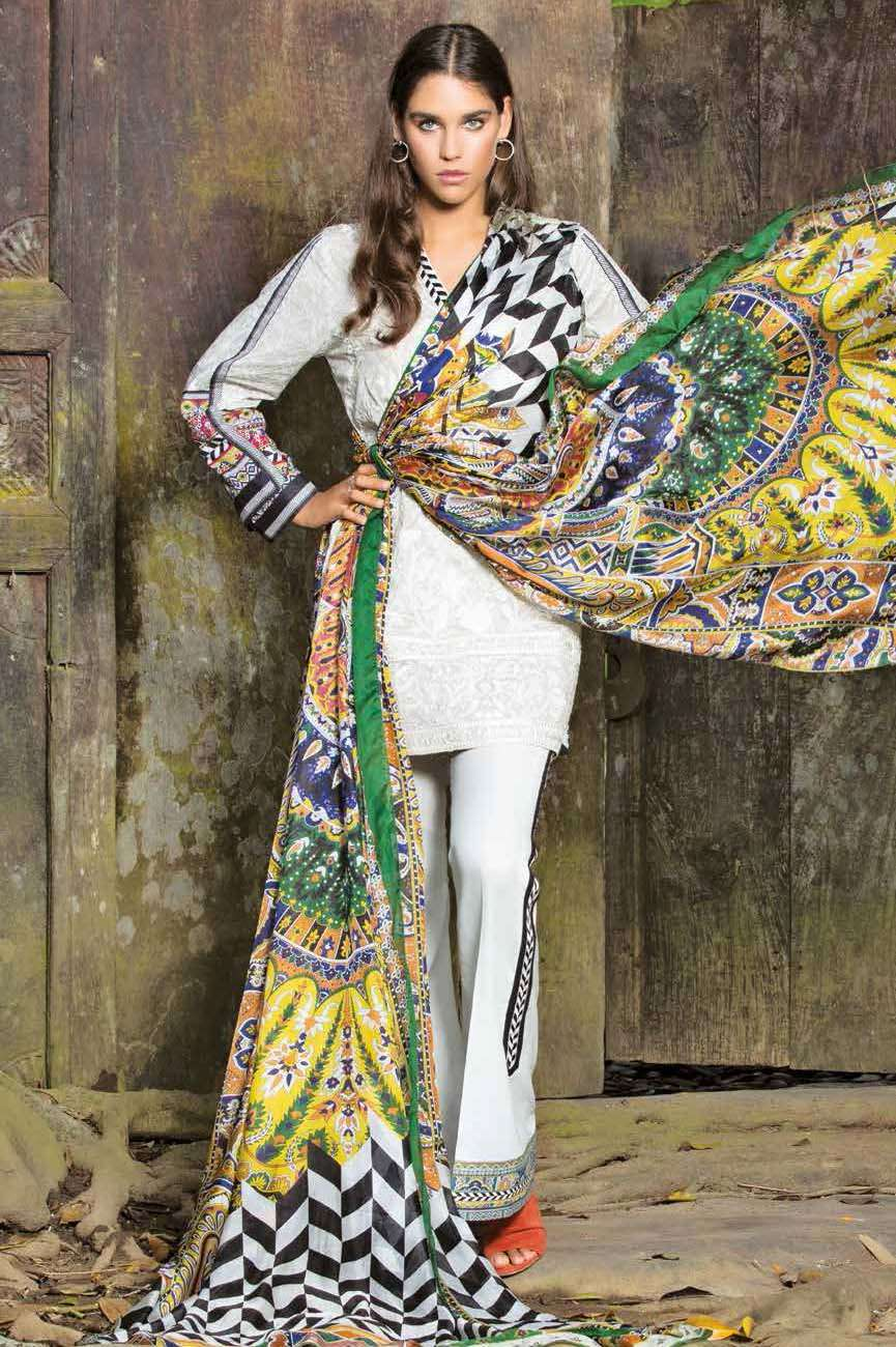 Mahgul by Al Zohaib Embroidered Lawn Unstitched 3 Piece Suit AZM17L 3A