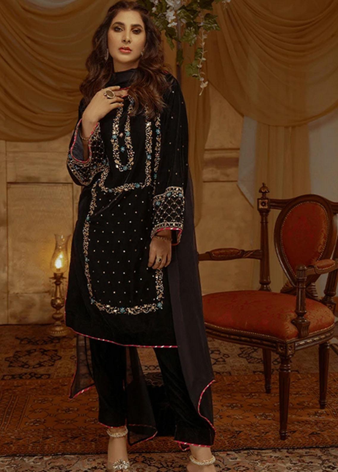Zaaviay Pret Luxury Velvet 3 Piece ZV21BM ZVB-001 Imane