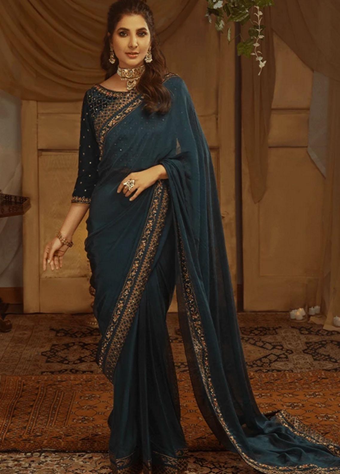 Zaaviay Pret Luxury Tissue Silk Saree ZV21BM ZVB-004 Anisa