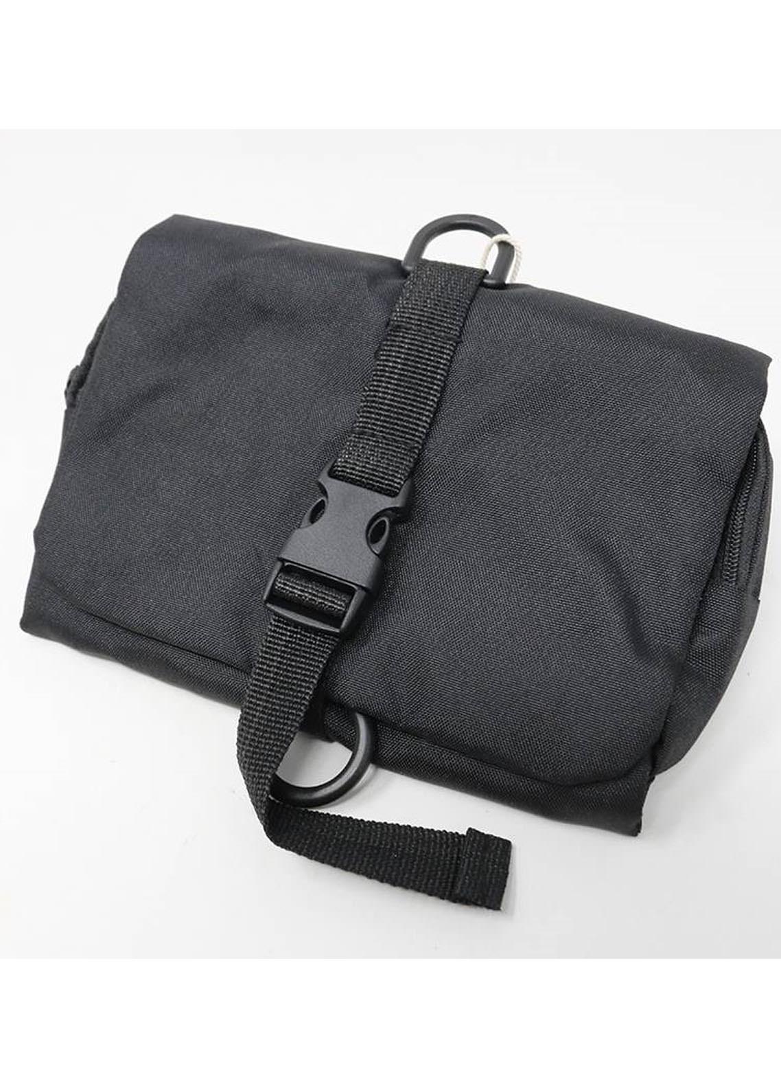 Mumuso TRI-FOLDTOILETRY BAG-SOLIDCOLOR-BLACK