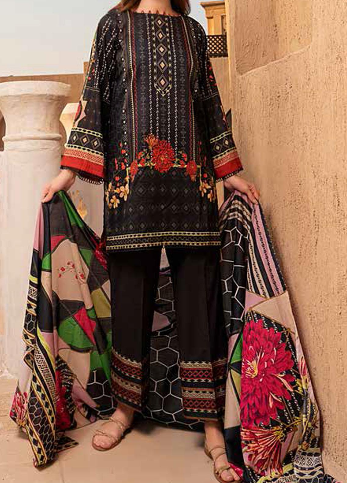 Banafsheh Printed Lawn Suits Unstitched 3 Piece BF21L 03 - Summer Collection