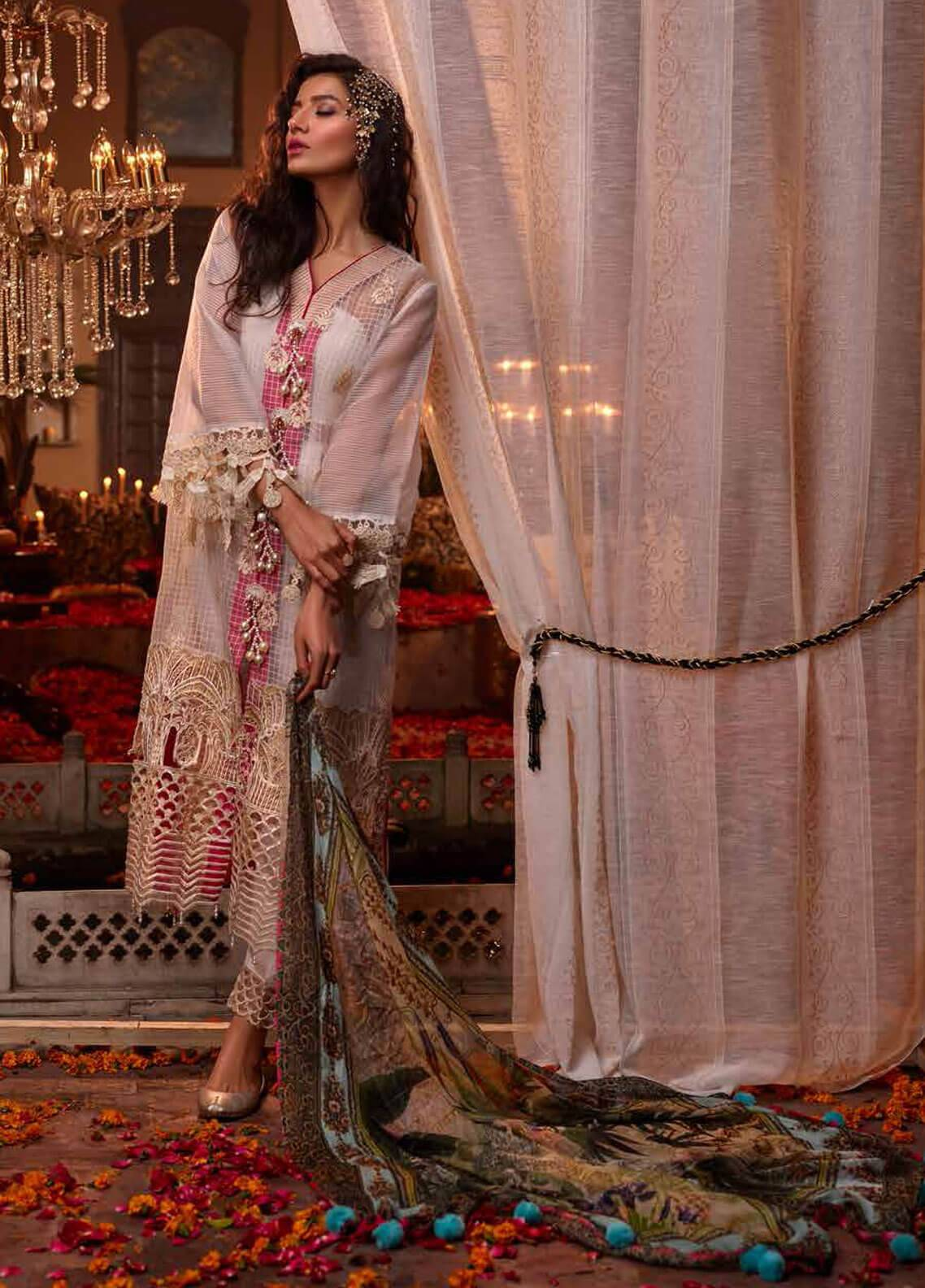 Banaras By Noor Textiles Embroidered Organza Unstitched 3 Piece Suit B09 - Spring / Summer Collection