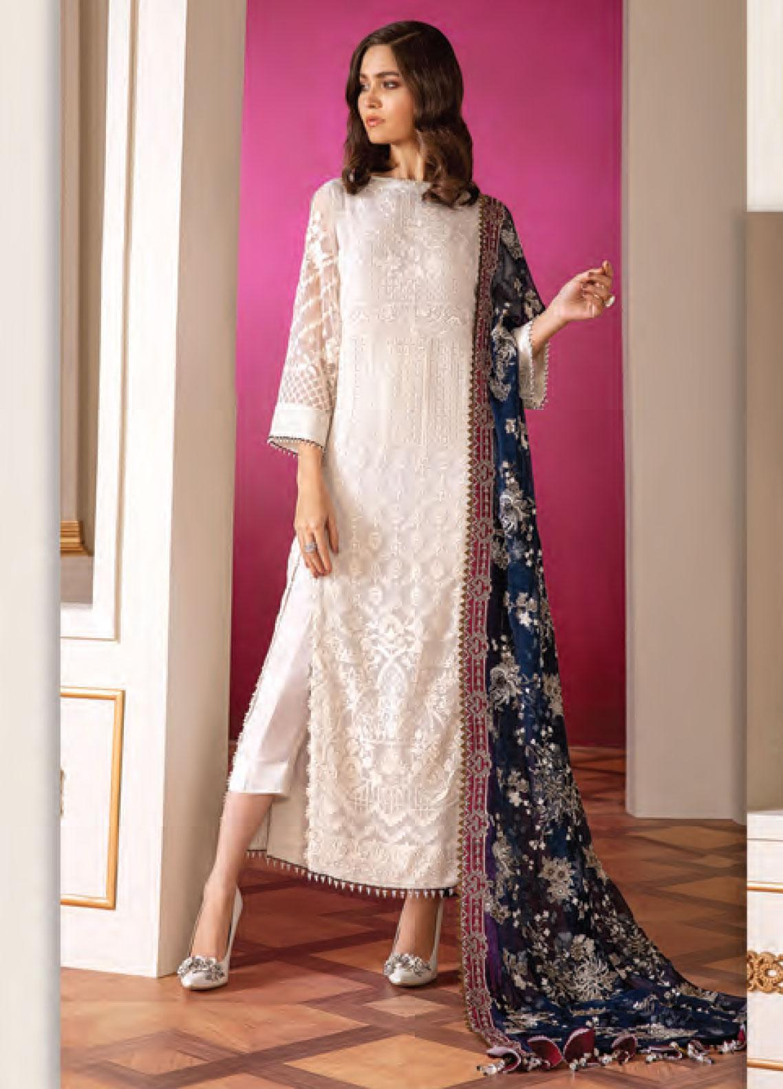 Baroque Embroidered Chiffon Unstitched 3 Piece Suit BQ20C 2 - Festive Collection