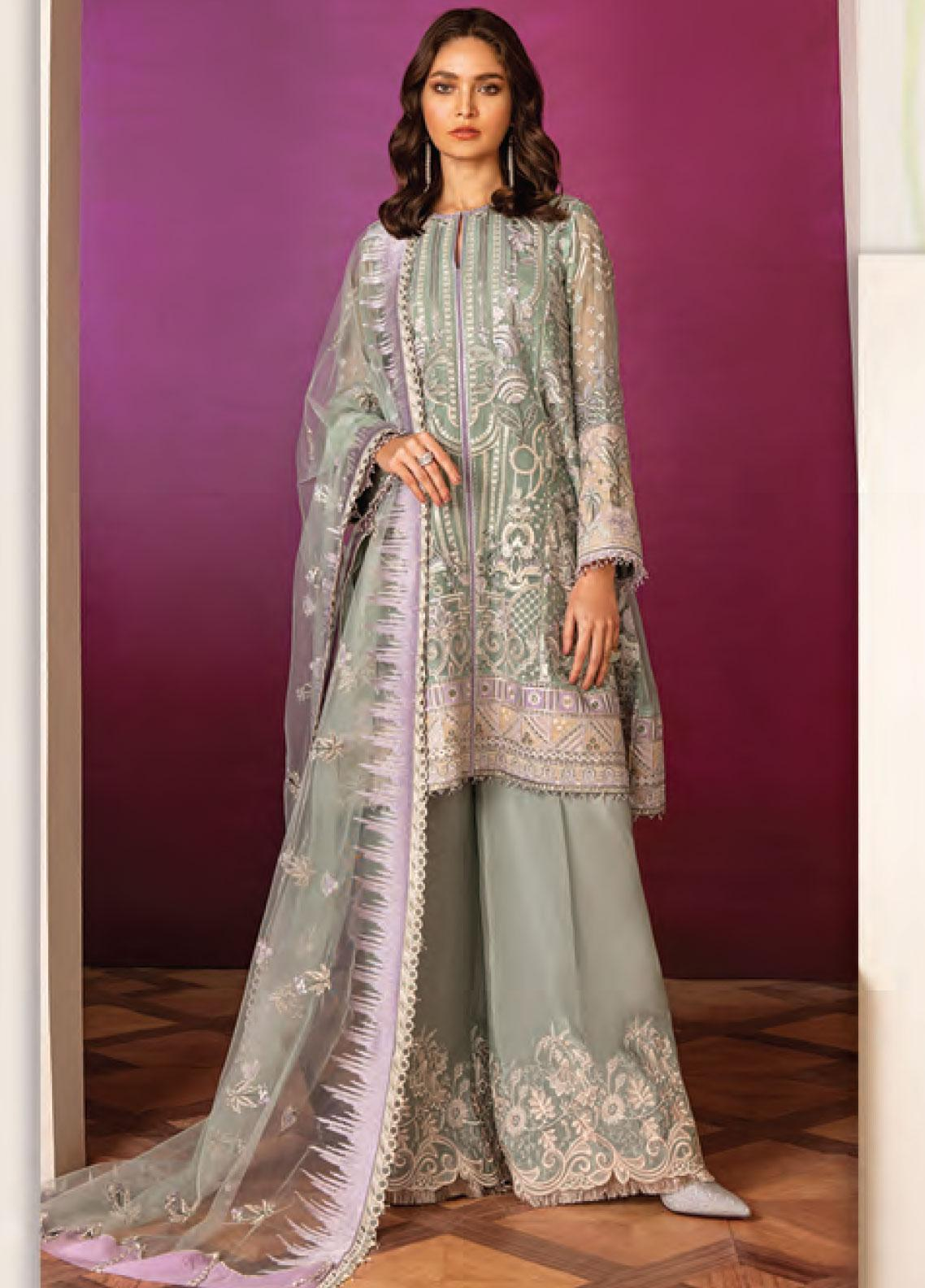 Baroque Embroidered Chiffon Unstitched 3 Piece Suit BQ20C 5 - Festive Collection