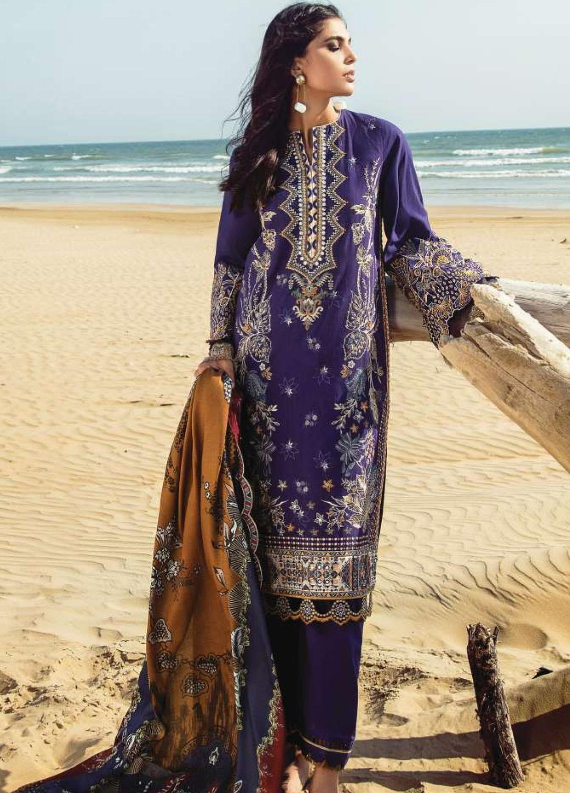 Lehar by Baroque  Embroidered Khaddar Unstitched 3 Piece Suit BQ20KL 06-TYRIAN - Festive Collection