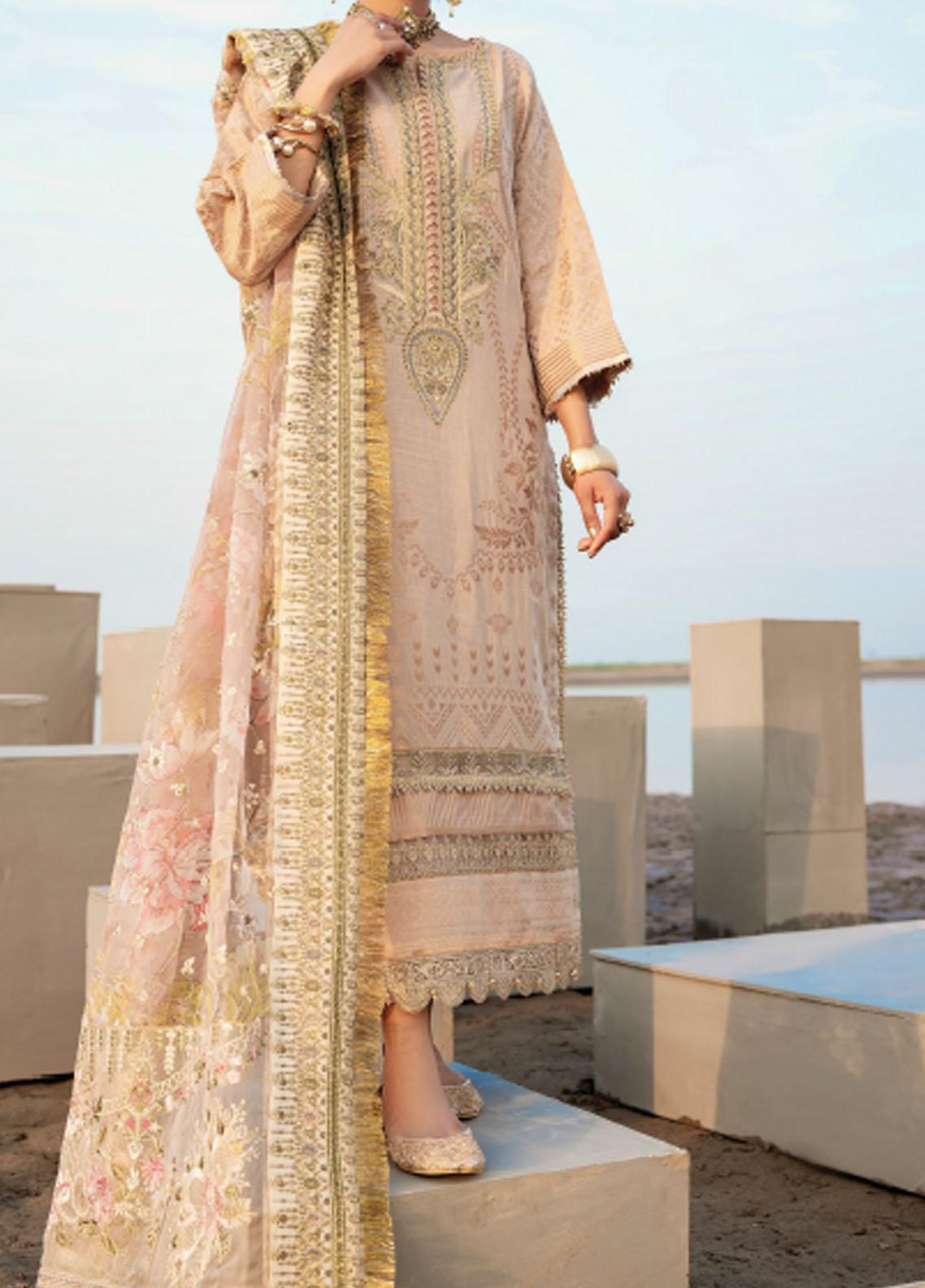 Baroque Embroidered Lawn Suits Unstitched 3 Piece BQ21SL 10 Eremurus - Summer Collection
