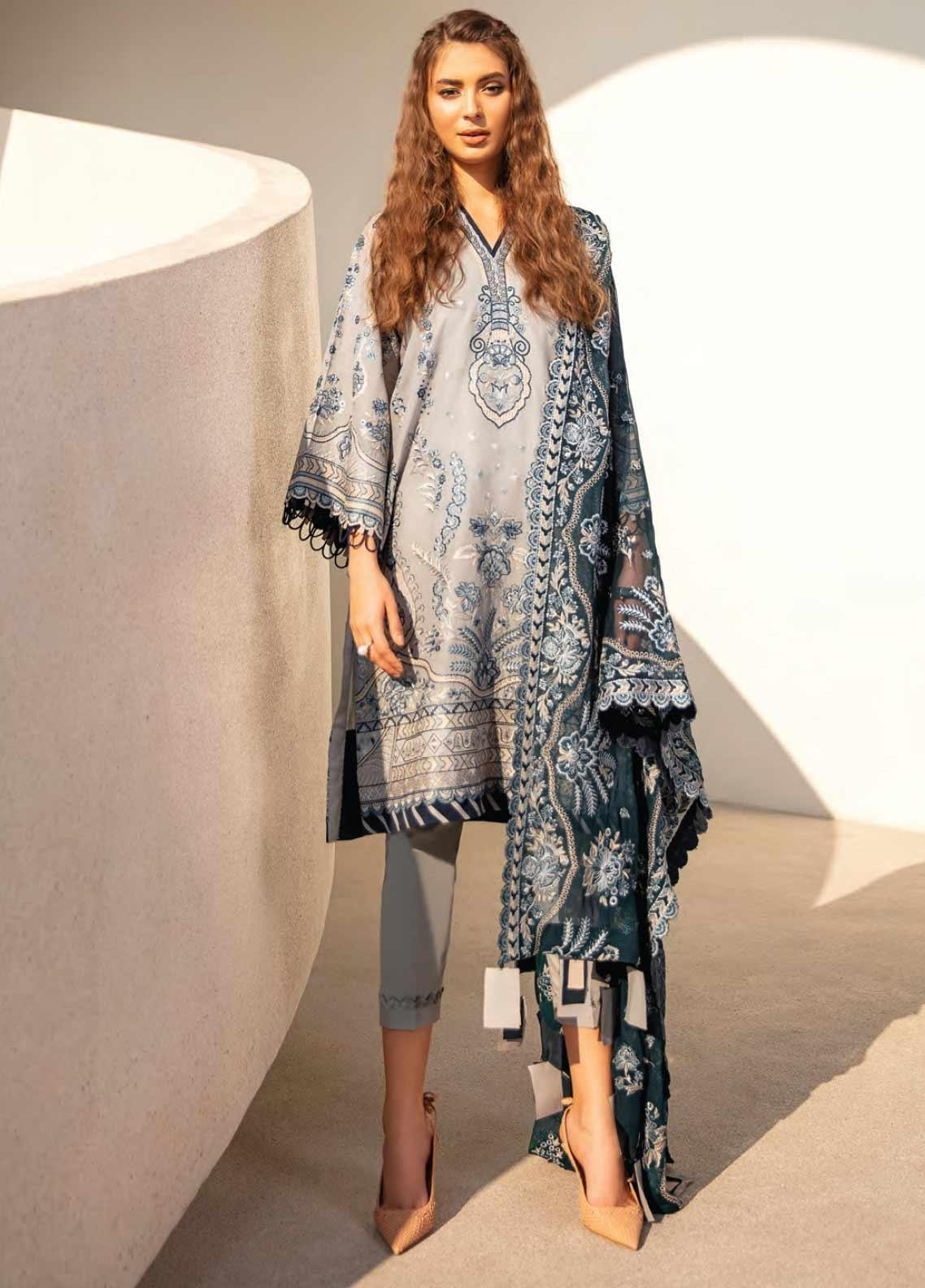 Baroque Embroidered Swiss Voile Unstitched 3 Piece Suit BQ20SV-5 10 - Luxury Collection