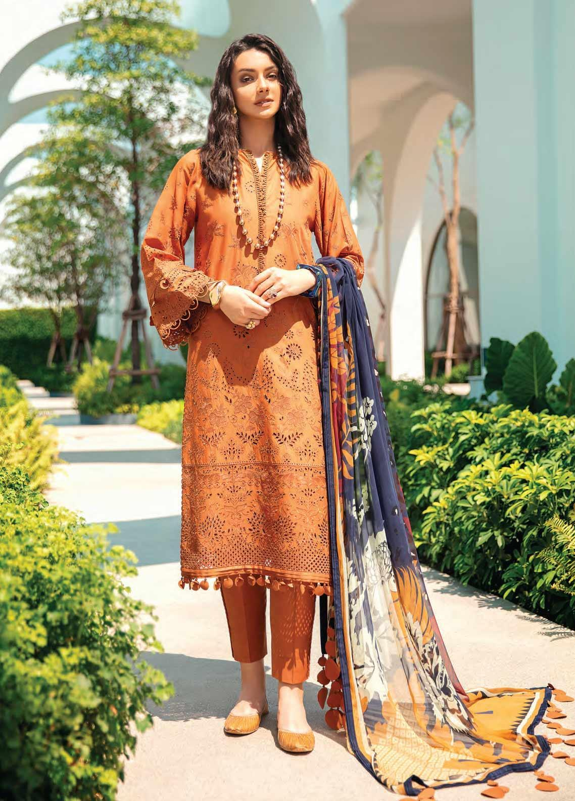 Baroque Embroidered Swiss Voile Unstitched 3 Piece Suit BQ20SV-5 4 - Luxury Collection