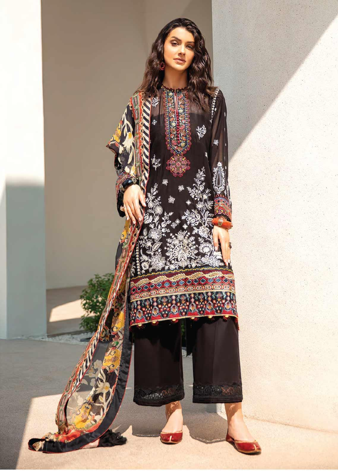 Baroque Embroidered Swiss Voile Unstitched 3 Piece Suit BQ20SV-5 5 - Luxury Collection