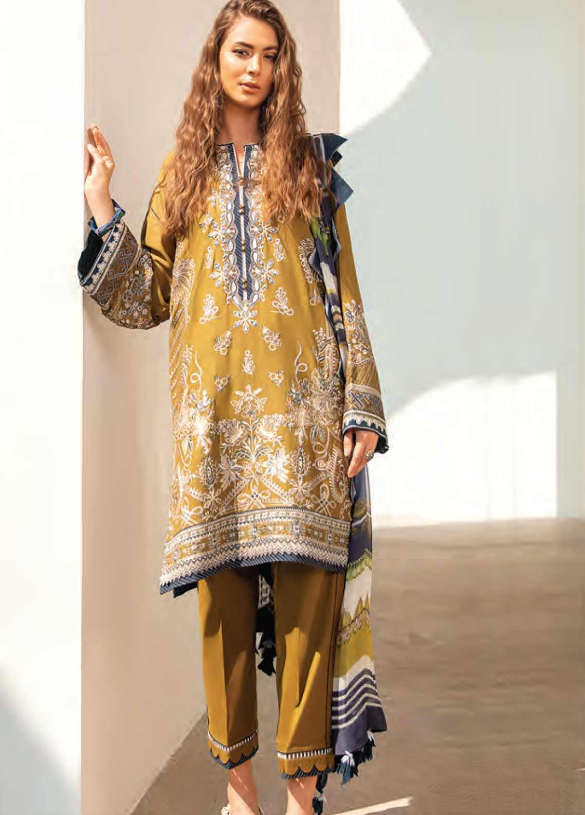 Baroque Embroidered Swiss Voile Unstitched 3 Piece Suit BQ20SV-5 7 - Luxury Collection