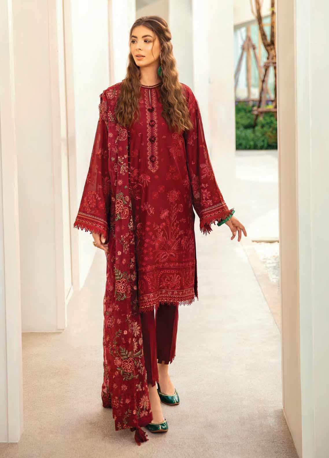 Baroque Embroidered Swiss Voile Unstitched 3 Piece Suit BQ20SV-5 9 - Luxury Collection
