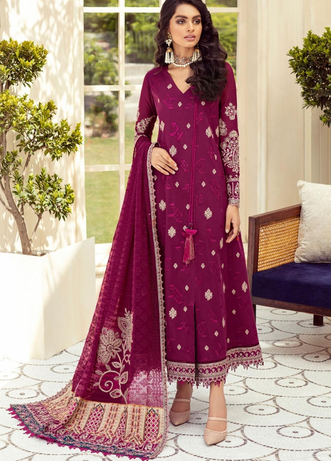 Sunheri Eid By Baroque Embroidered Lawn Suits Unstitched 3 Piece BQ21SE 04 Diba - Summer Collection