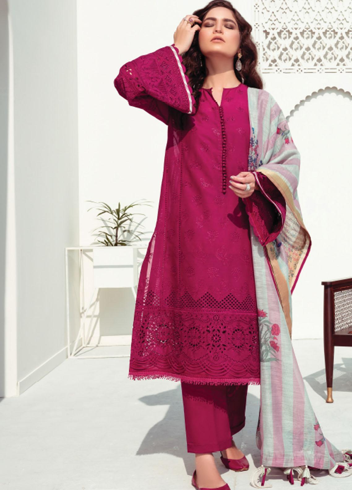 Baroque Embroidered Swiss Voile Suits Unstitched 3 Piece BQ21SV 04 Dolcetto - Summer Collection