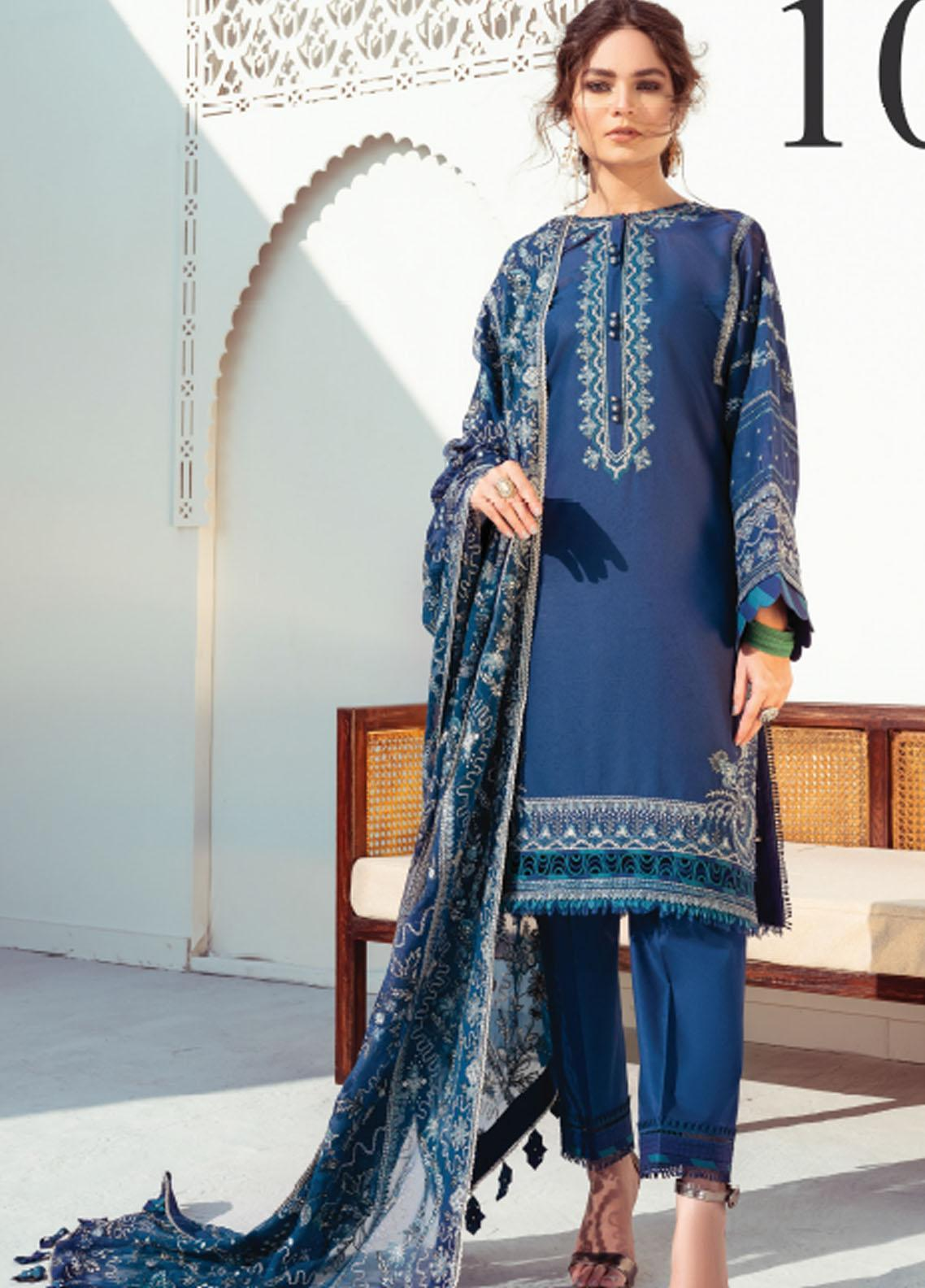 Baroque Embroidered Swiss Voile Suits Unstitched 3 Piece BQ21SV 10 Heliotrope - Summer Collection