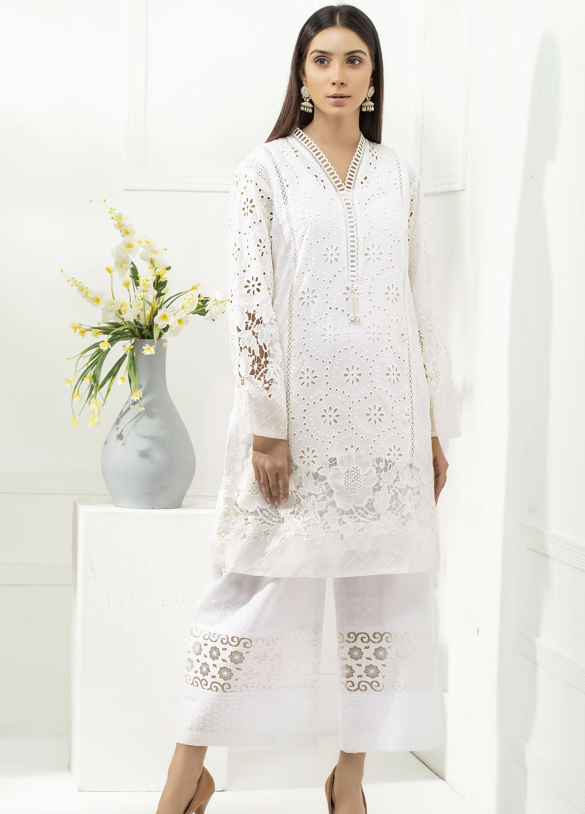 Yusra Ansari Chikankari Cotton Stitched 2 Piece Suit YA20BA Elayne (YBE-05)