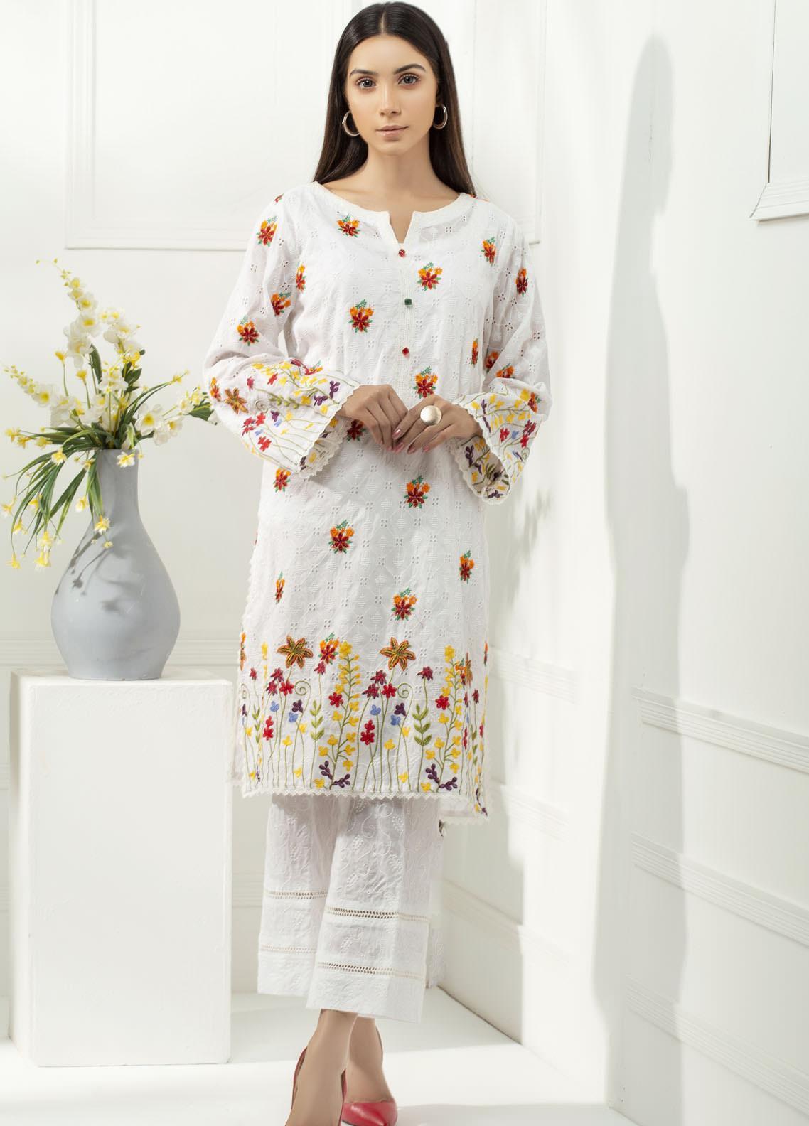 Yusra Ansari Chikankari Cotton Stitched 2 Piece Suit YA20BA Hiraya (YBE-06)