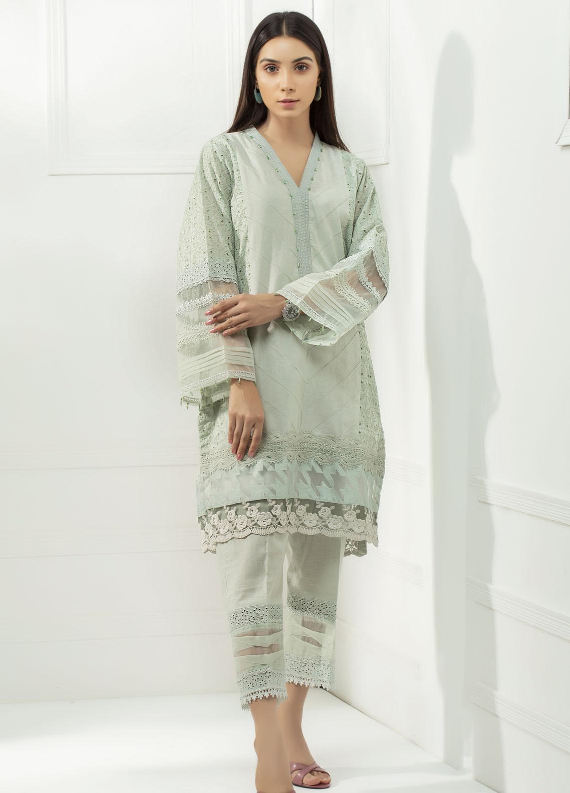 Yusra Ansari Chikankari Cotton Stitched 2 Piece Suit YA20BA Lavelle (YBE-04)