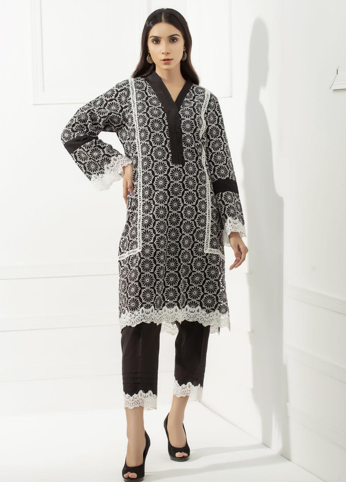Yusra Ansari Chikankari Cotton Stitched 2 Piece Suit YA20BA Selene (YBE-07)