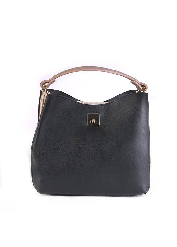 PU Leather Satchels Handbags for Women - Black with  Keyring
