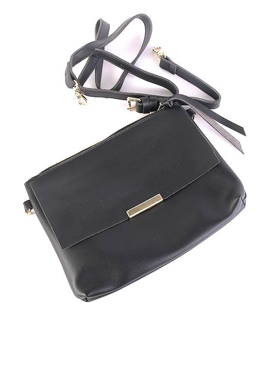 PU Leather Tote  Handbags for Women - Black with Flowers Keyring