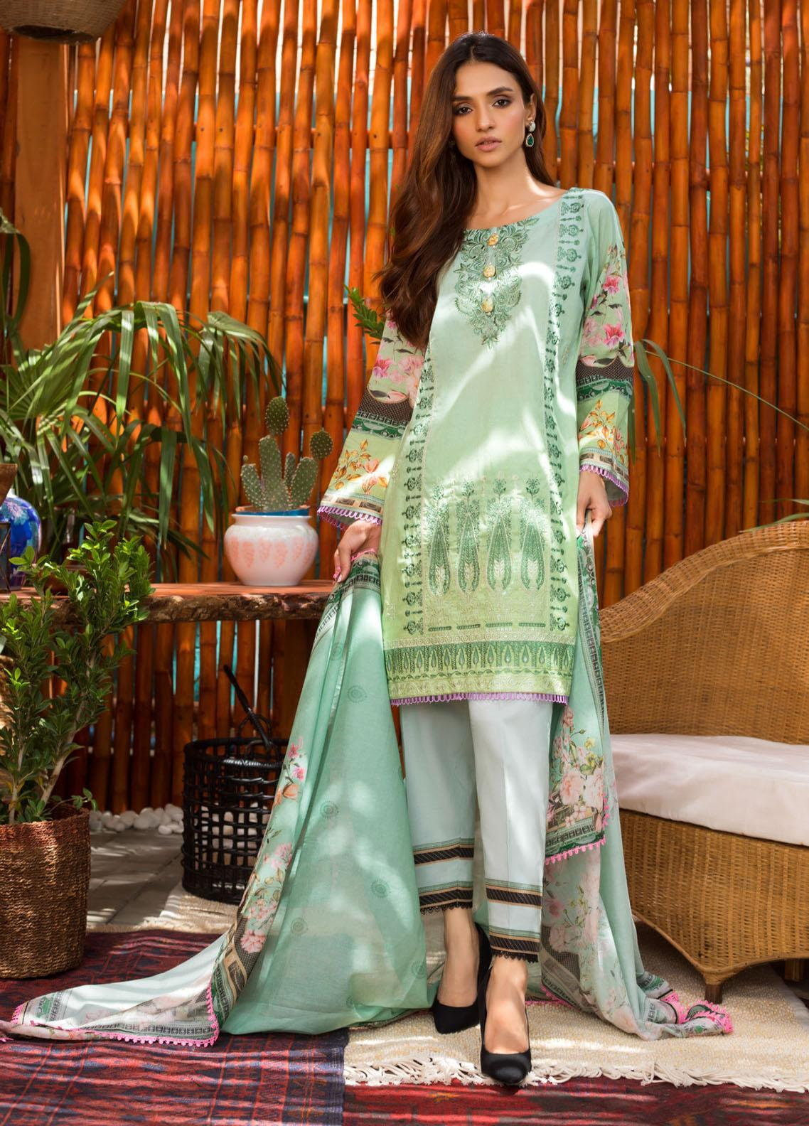 Blend Inn By Regalia Textiles Embroidered Chikankari Suits Unstitched 3 Piece RGT21B 08 - Summer Collection