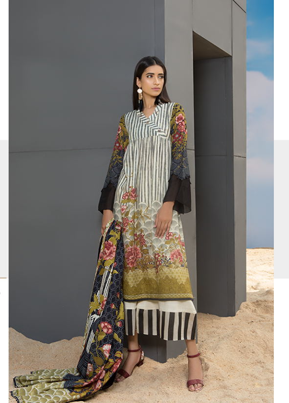 Sapphire Embroidered Khaddar Unstitched 3 Piece Suit SP17W Boon Delight A