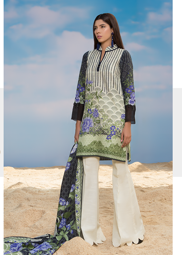 Sapphire Embroidered Khaddar Unstitched 3 Piece Suit SP17W Boon Delight B