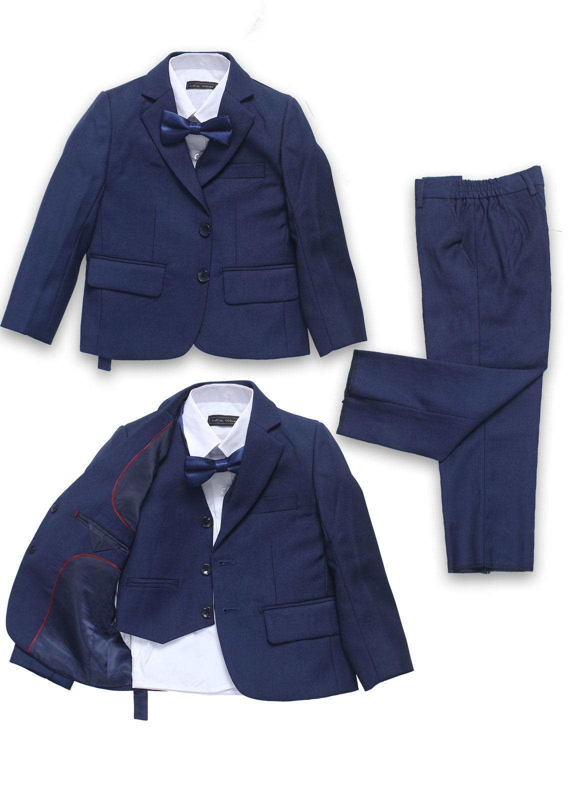 Sanaulla Exclusive Range Cotton Formal Coat Suit for Boys -  71822 Royal Blue