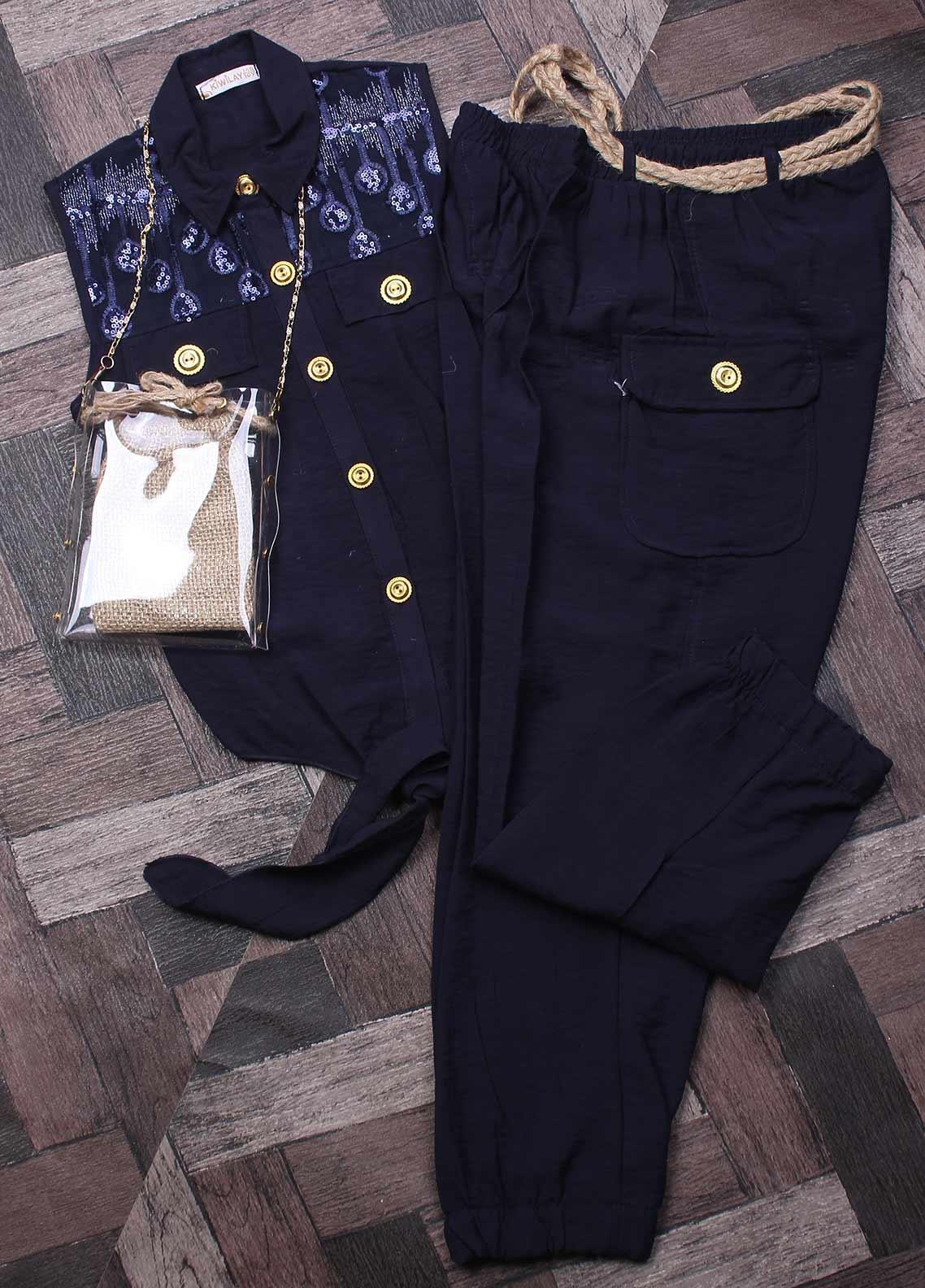 Sanaulla Exclusive Range Cotton Fancy Suits for Boys -  2417 Blue