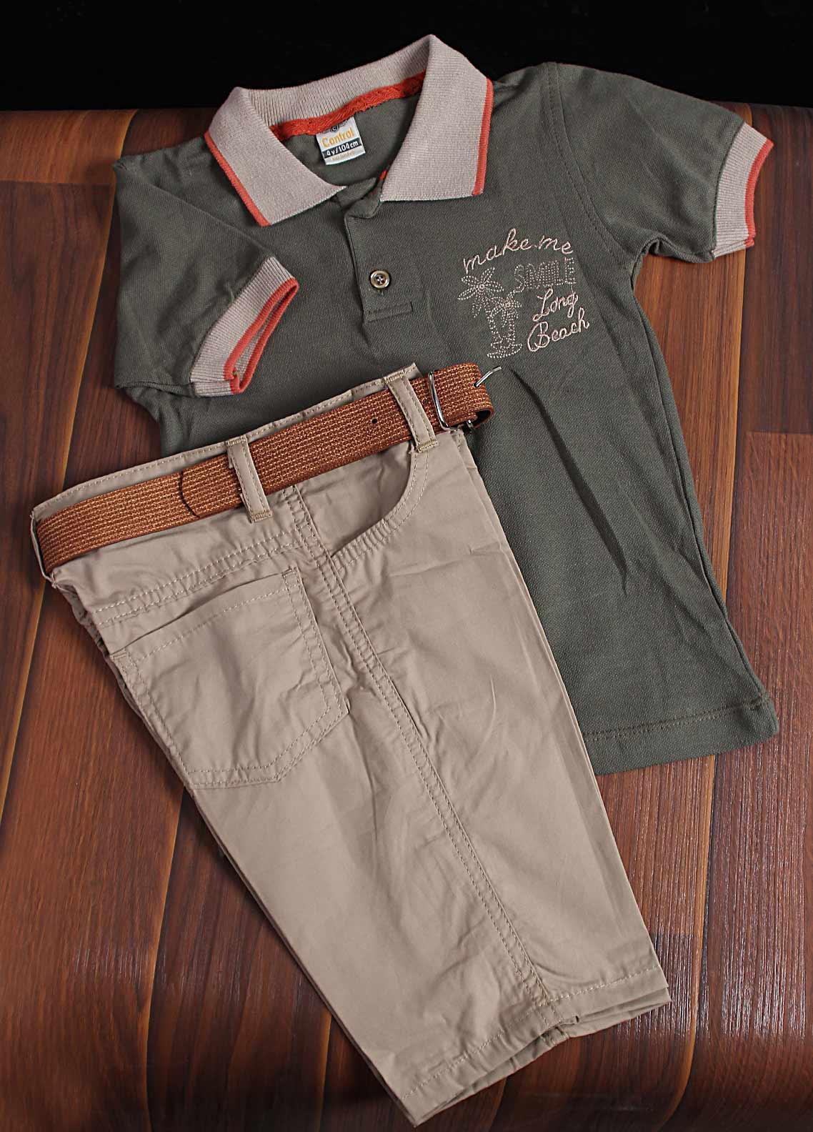 Sanaulla Exclusive Range Cotton Fancy Boys Suit -  292 Green
