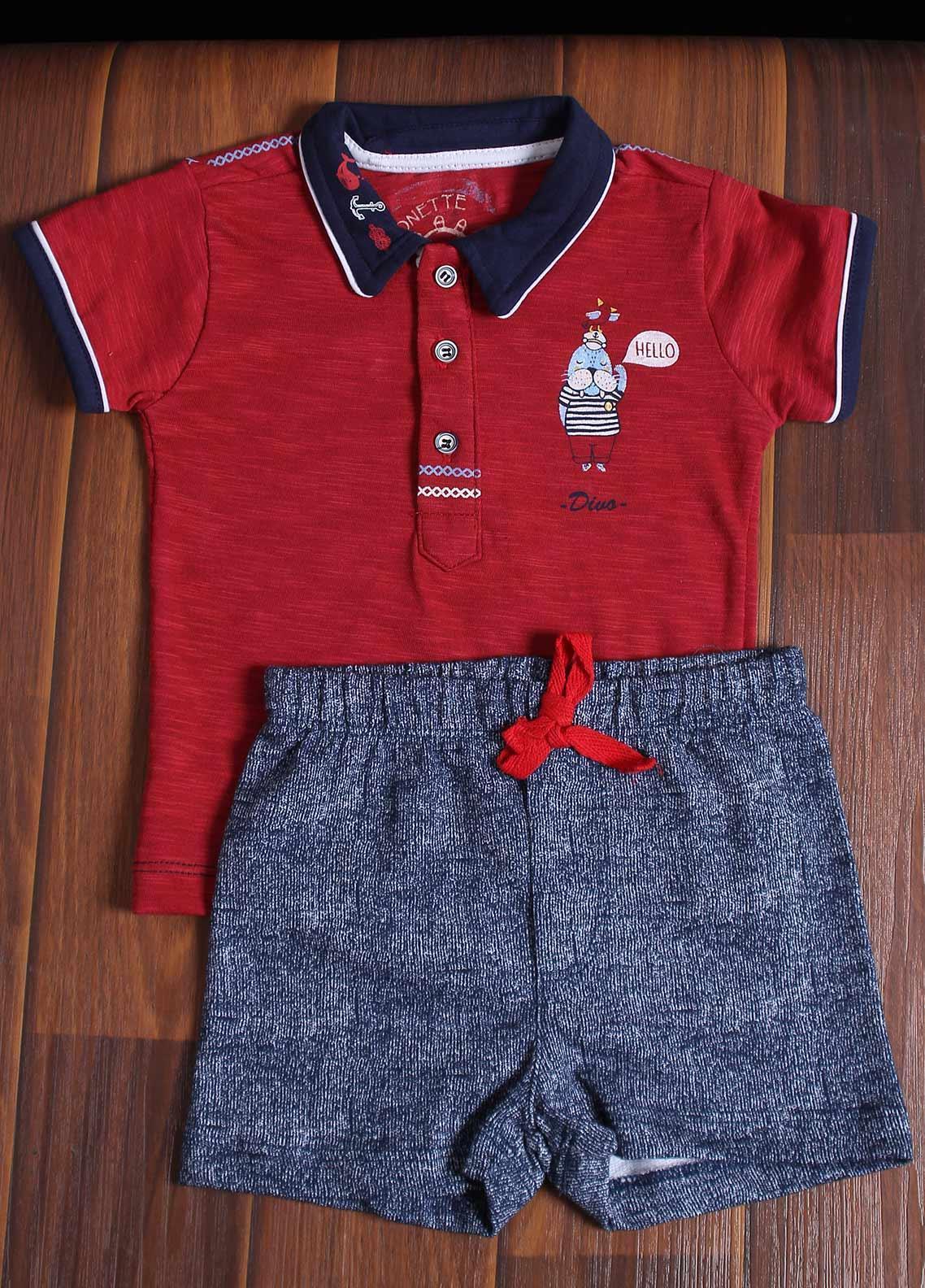 Sanaulla Exclusive Range Cotton Fancy Suit for Boys -  6172 Maroon