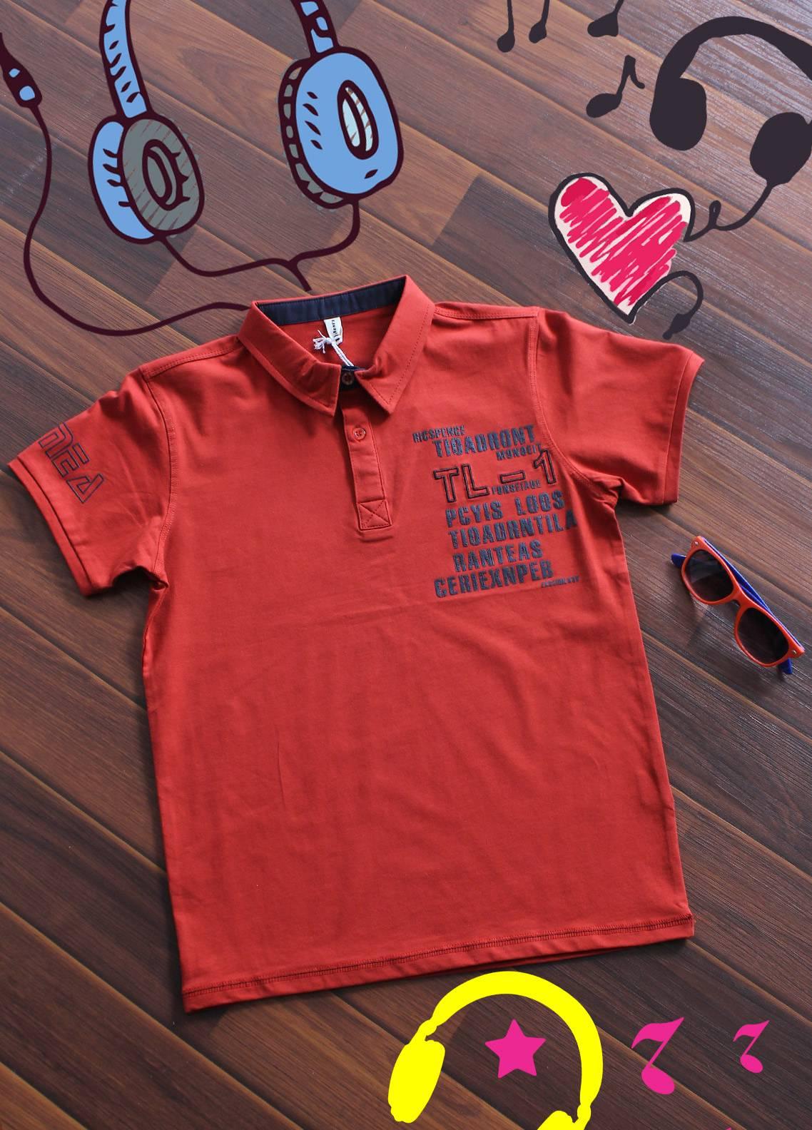 Sanaulla Exclusive Range Cotton Printed Boys T-Shirts -  19020 Orange