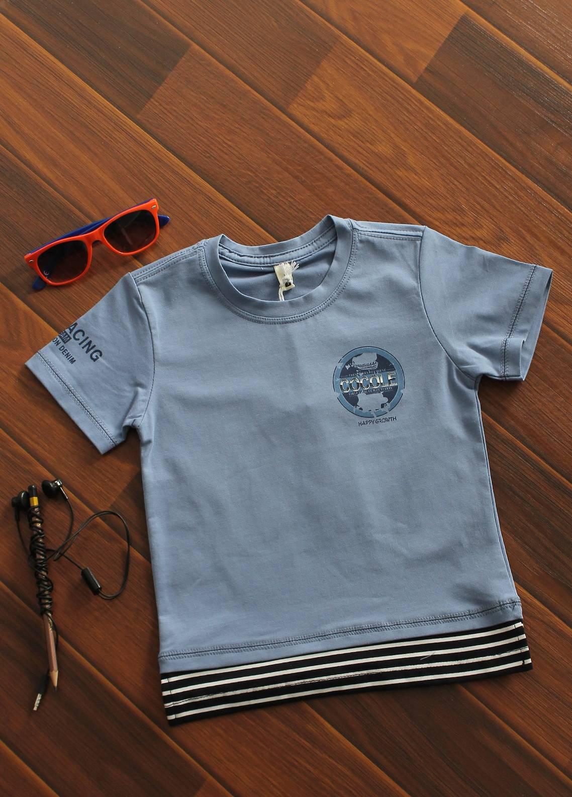 Sanaulla Exclusive Range Cotton Printed T-Shirts for Boys -  19042 Sky Blue