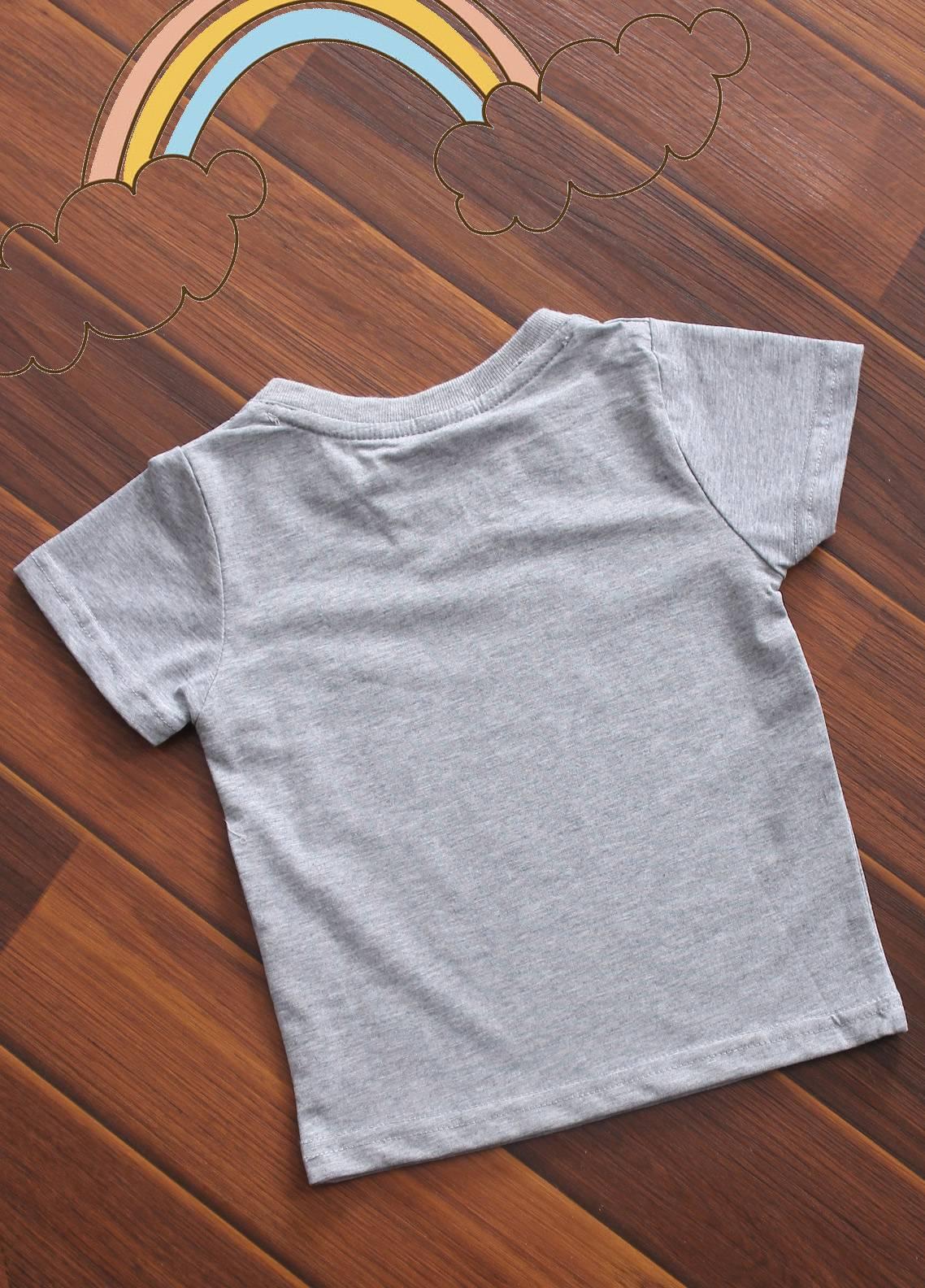 Sanaulla Exclusive Range Cotton V-Neck Boys T-Shirts -  3015 Grey
