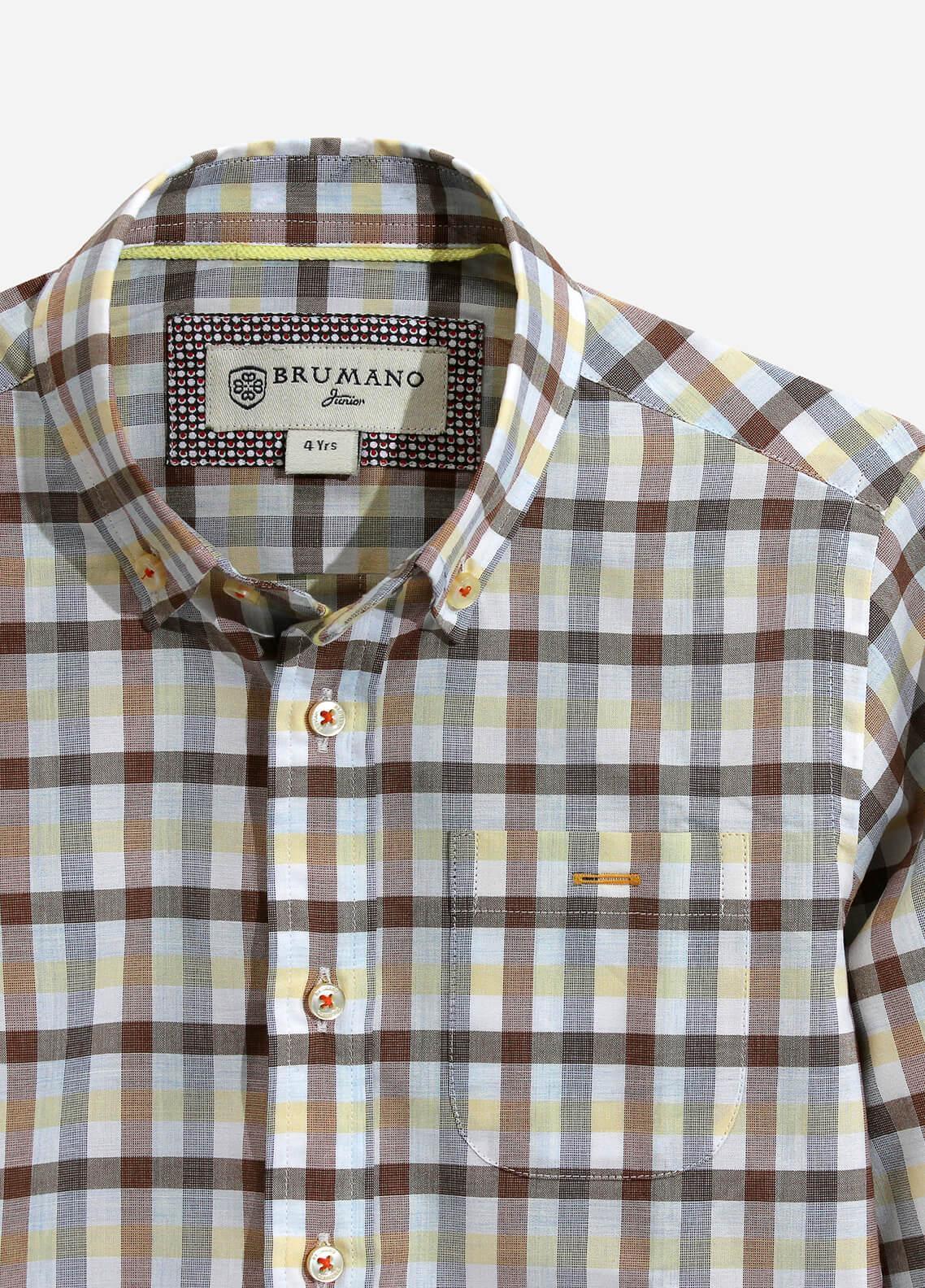Brumano Cotton Casual Shirts for Boys - Multi BRM-835