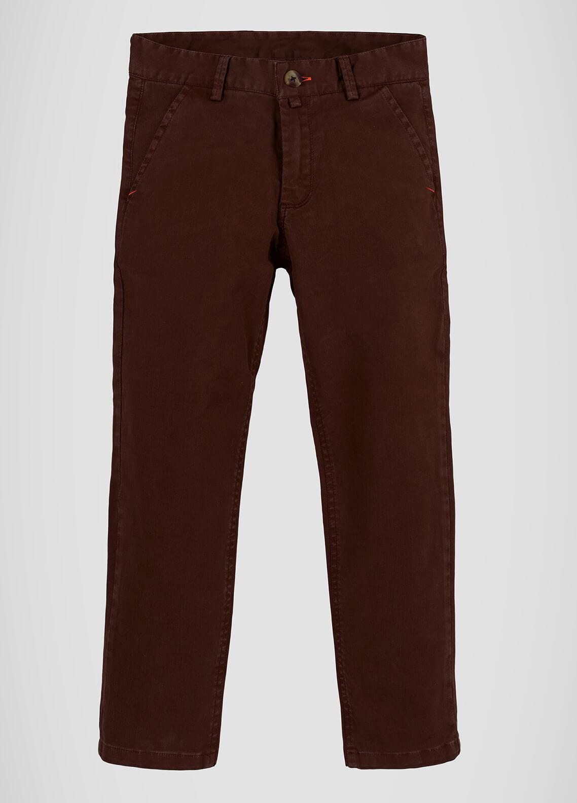 Brumano Cotton Casual Trousers for Boys -  BRM-555-Burgundy
