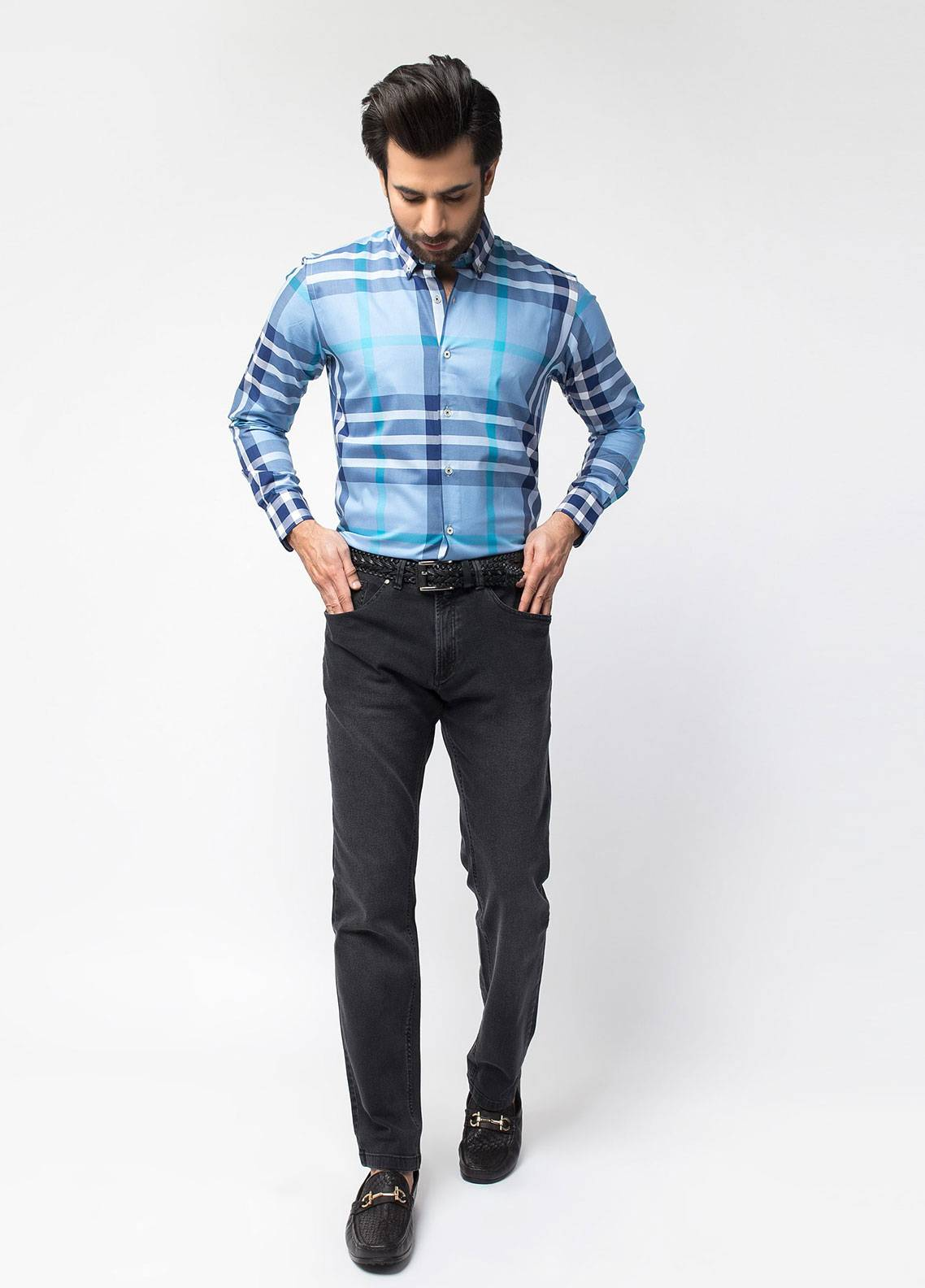 Brumano Cotton Denim Jeans for Men - Blue BRM-401-Light
