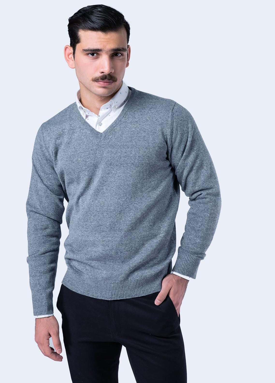 Brumano Cotton Full Sleeves V-Neck Sweaters for Men -  FS-005