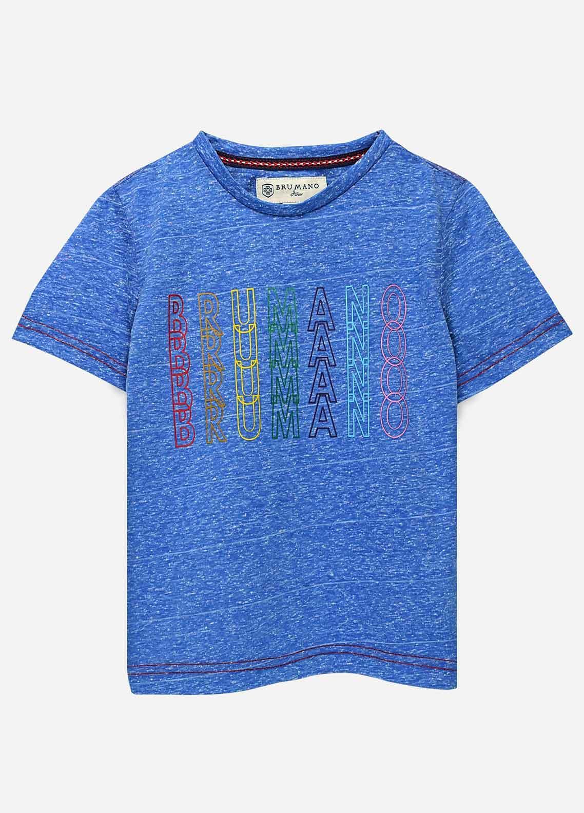 Brumano Cotton Casual Boys T-Shirts -  BRM21JS Blue Printed