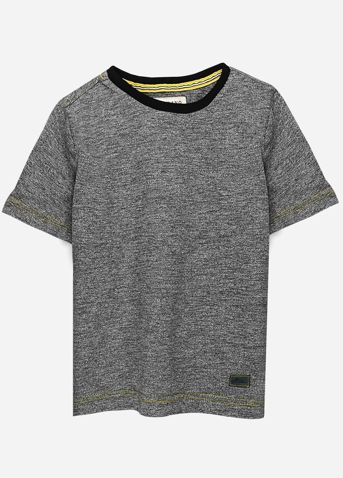 Brumano Cotton Casual T-Shirts for Boys -  BRM21JS Grey Short Sleeves Marl