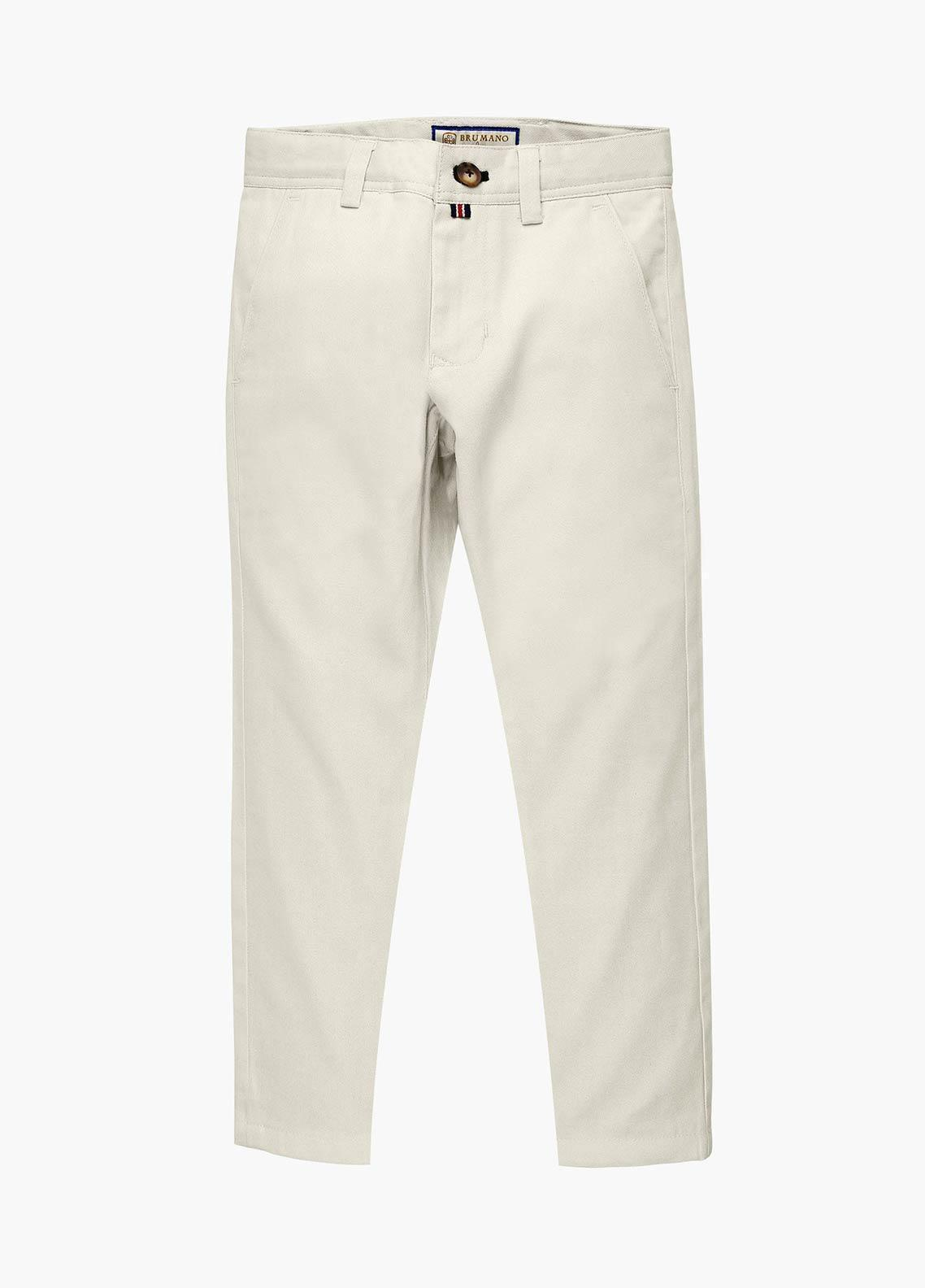Brumano Cotton Casual Trousers for Boys - Blue BM20JP Beige Twill Casual Trouser - Junior