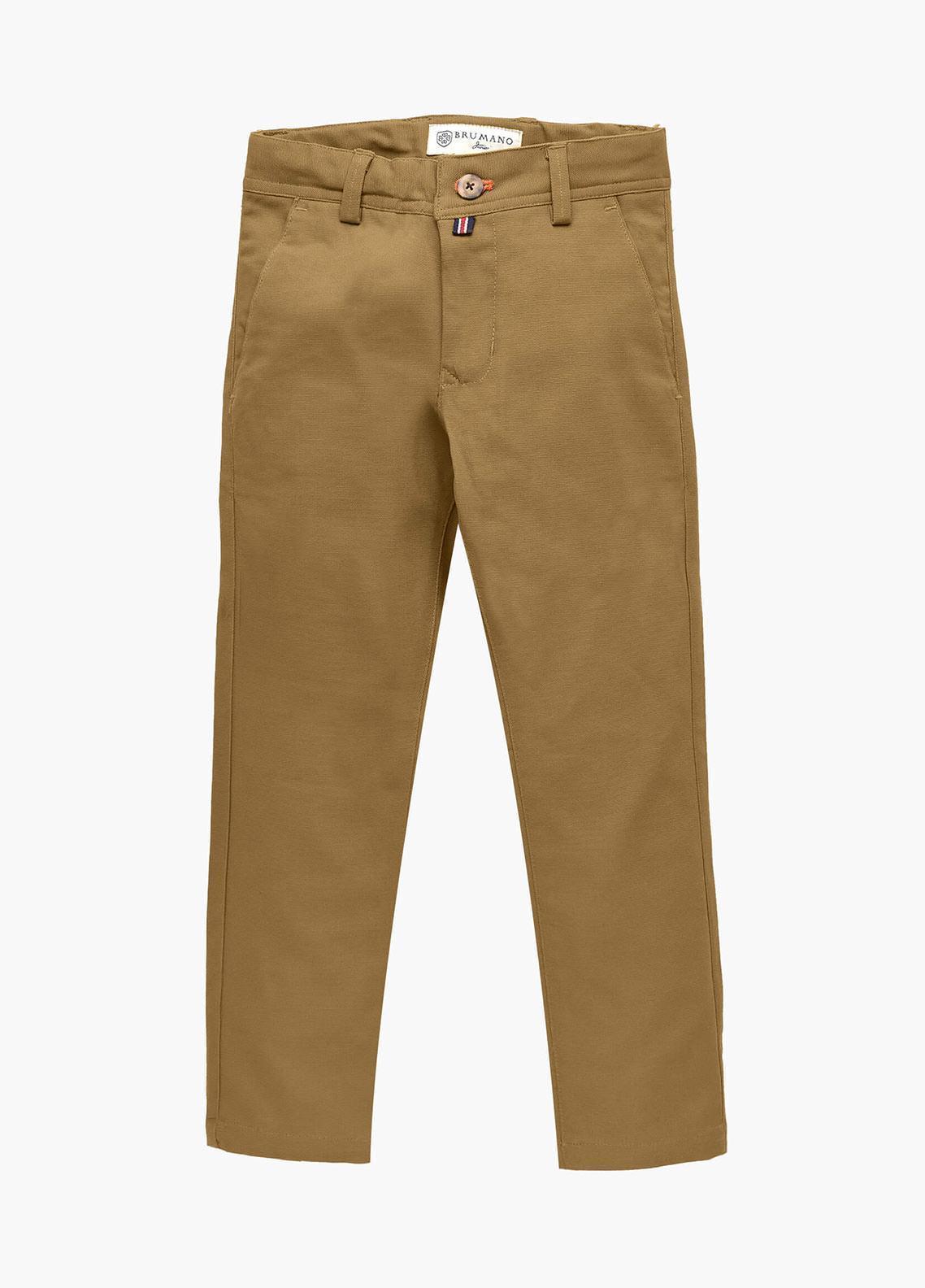 Brumano Cotton Casual Trousers for Boys - Blue BM20JP Khaki Casual Trouser-Junior
