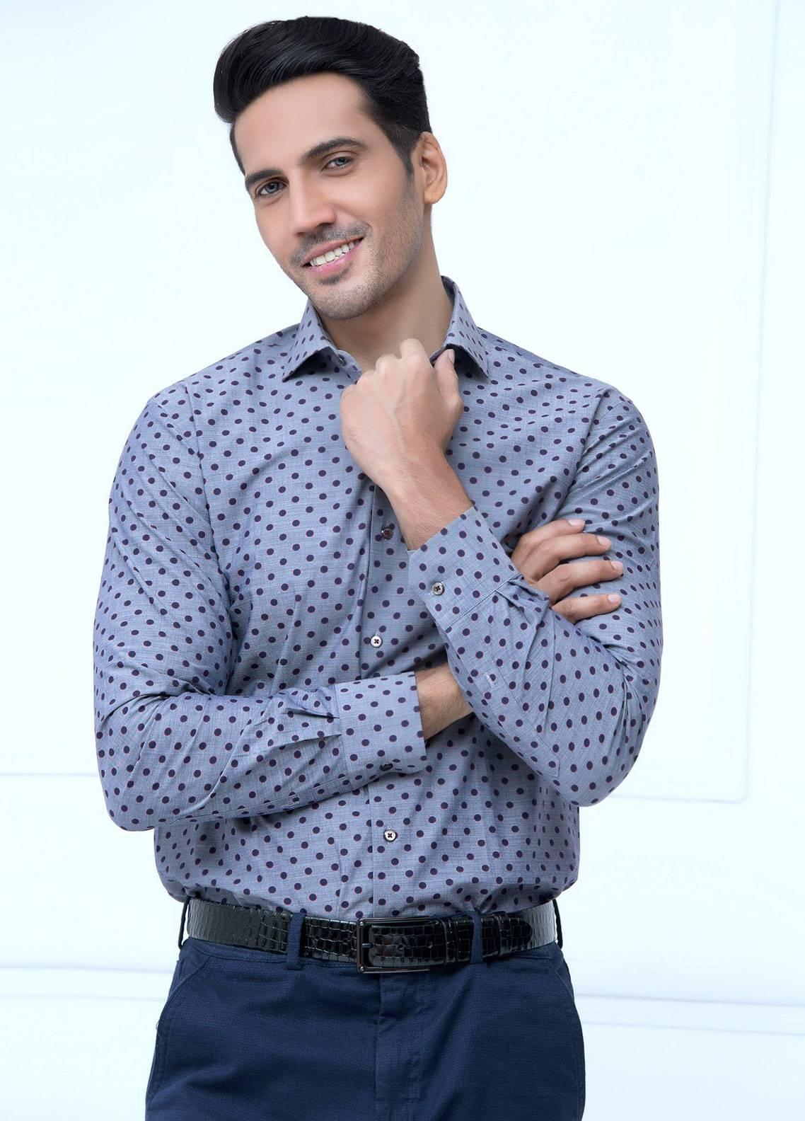 Brumano Cotton Formal Men Shirts   Grey BRM 178